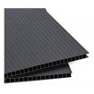 Plástico Corrugado Negro 4mm