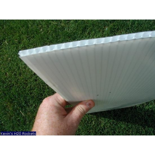 Pl stico corrugado blanco 4mm for Laminas de plastico para paredes